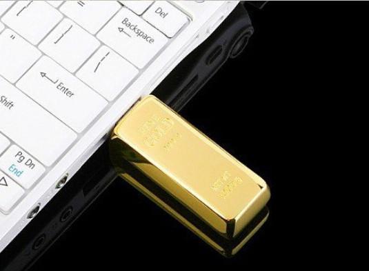 Золотой Слиток Флешка