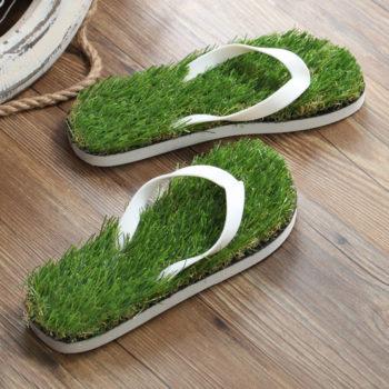 Травяные тапочки