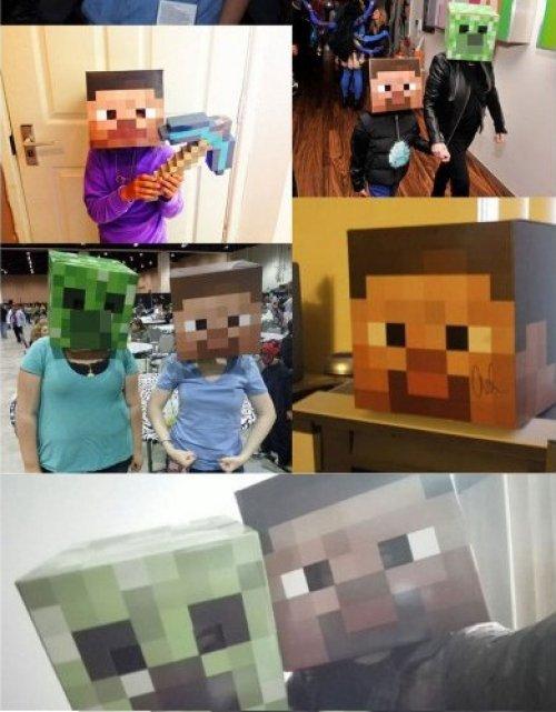 Minecraft Голова Маска