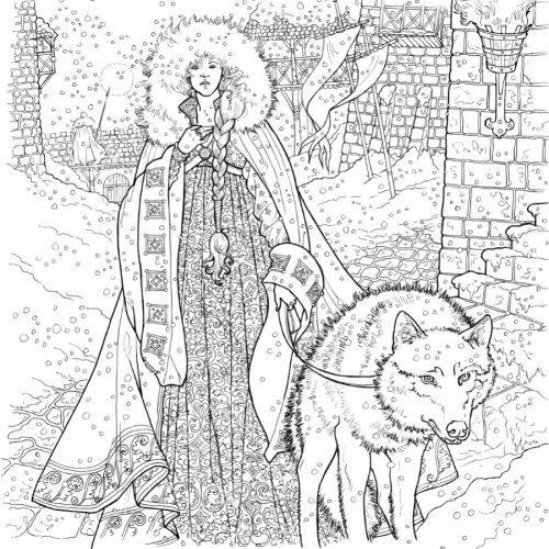 книжка раскраска игра престолов Etonadokupit Ru